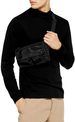 Topman Long Sleeve Mock Neck T-Shirt