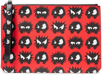 McQ Printed Textured-leather Tablet Case