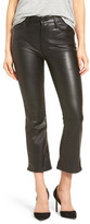 Mother The Insider Faux Leather Crop Bootcut Pants