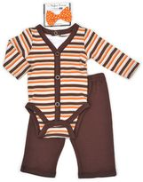 Vitamins Baby Baby Boy Thanksgiving Bodysuit, Pants & Bowtie Set