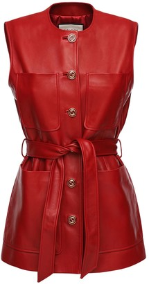 Gucci Leather Belted Vest