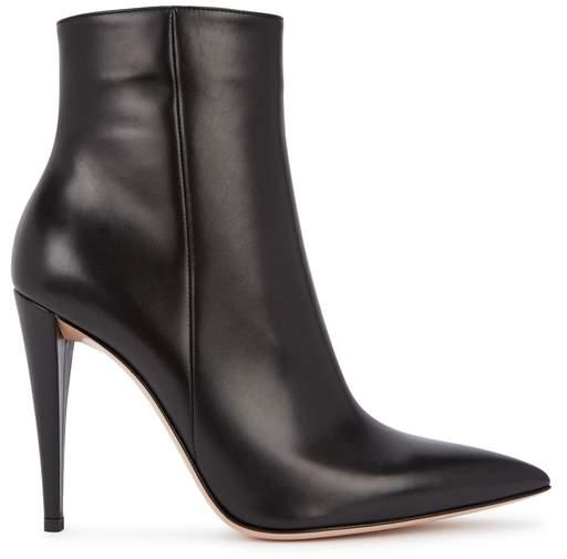 Gianvito Rossi Vitello 105 Leather Ankle Boots