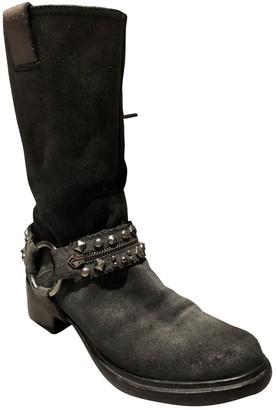 Miu Miu Grey Suede Boots