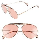 Tommy Hilfiger Women's 58Mm Aviator Sunglasses - Gold/ Copper