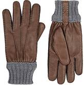 Barneys New York Men's Deerskin Rib-Knit Gloves