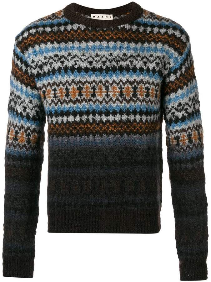 Marni fairisle turtle-neck sweater