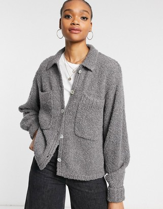 And other stories & borg cardigan in grey