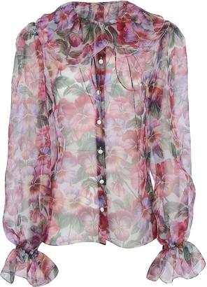 Dolce & Gabbana Ruffled Floral Blouse