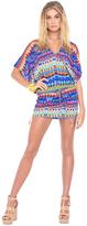 Luli Fama Tribal Beach Cabana V-Neck Dress in Multicolor (L455976)