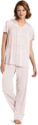 Vanity Fair Exquisite Form Women's Coloratura Sleepwear Short Sleeve Pajama Set 90107