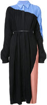 Jil Sander colour-block shirt dress - women - Silk - 34