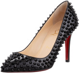 Christian Louboutin Pigalle Spiked Pointed-Toe Red Sole Pump, Pink