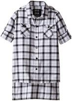 eve jnr - Oversize Button Up Tunic Shirt Kid's Short Sleeve Button Up