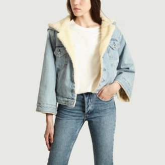 Levi's Made & Crafted Levi's Made&Crafted - Denim Sherpa Cropped Jean Jacket - m | cotton | denim - Denim