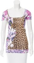 Just Cavalli Short Sleeve Printed Top