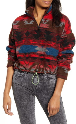 Urban Outfitters BDG Peru Half Zip Crop Pullover