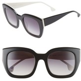 Alice + Olivia Women's Aberdeen 50Mm Square Sunglasses - Black/ White