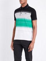 HUGO BOSS Slim-fit striped cotton polo shirt