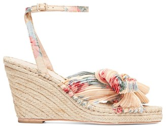 Loeffler Randall Charley Knotted Floral Espadrille Wedge Sandals