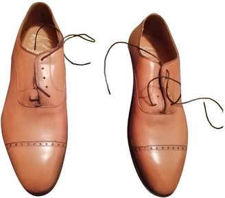 Burberry Camel Leather Lace ups