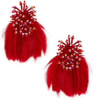 Mignonne Gavigan Mini Delaney Bead & Feather Drop Earrings