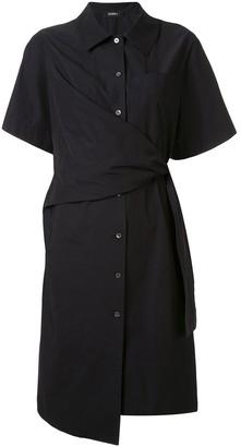 GOEN.J knot detail shirt dress