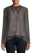 Narciso Rodriguez Dotted Silk Georgette Blouse