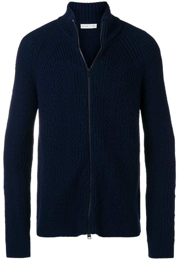 Etro chunky knit zipped turtleneck