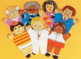 Dexter Educational Toys DEX810W Family 7 Piece Puppet Set - Caucasian by Dexter Educational Toys