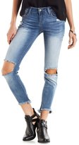 Charlotte Russe Cello Raw Hem Distressed Skinny Jeans
