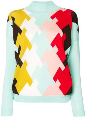 DELPOZO intarsia turtleneck sweater