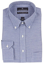 Hart Schaffner Marx Non-Iron Houndstooth Fitted Classic-Fit Button-Down Collar Dress Shirt