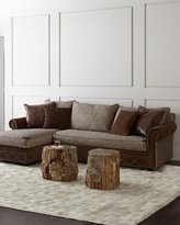 Old Hickory Tannery Witten Left-Arm Chaise Sectional