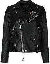 Coach Nasa biker jacket - women - Lamb Skin/Polyester/Viscose - 0