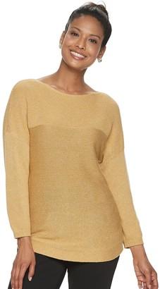Croft & Barrow Petite Dolman Boatneck Sweater