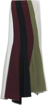 J.W.Anderson Striped Crepe Maxi Skirt