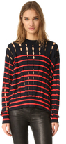 Alexander Wang Crew Neck Pullover with Slits