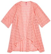 Gossip Girl Girls' Kitty Crochet Swim Cover Up - Sizes 7-16