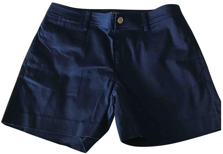 Lauren Ralph Lauren Navy Cotton Shorts for Women