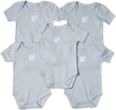 Burt's Bees Baby 5 Pack Essentials Solid Bodysuits (Baby)-Sky-12 Months