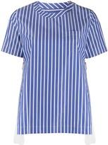 Sacai side zip detail blouse