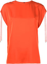 Theory Malkara drawstring blouse - women - Silk - 0