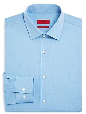 HUGO BOSS Textured Solid Regular Fit Dress Shirt