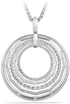 David Yurman Stax Large Round Pendant Necklace with Diamonds
