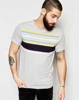Farah T-Shirt with Chest Stripe Slim Fit