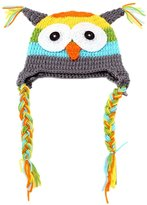 Kobwa(TM) Toddler Owls Crochet Knit Wool Hat With Ear Flap with Kobwa's Keyring