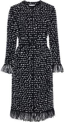 Oscar de la Renta Fil Coupe Cotton-blend Boucle-tweed Coat