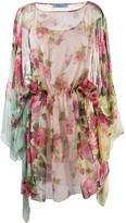Blumarine floral printed tunic dress