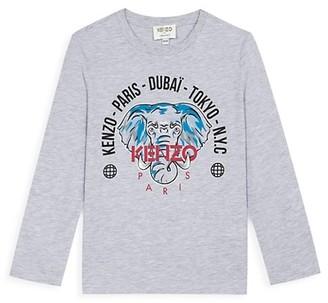 Kenzo Little Boy's & Boy's Long-Sleeve Elephant Logo T-Shirt
