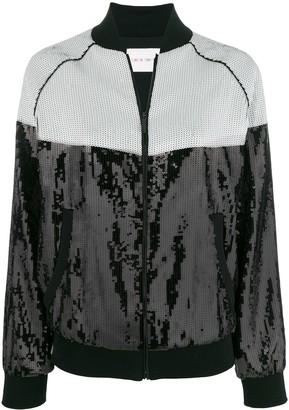 Alberta Ferretti Sequin Bomber Jacket